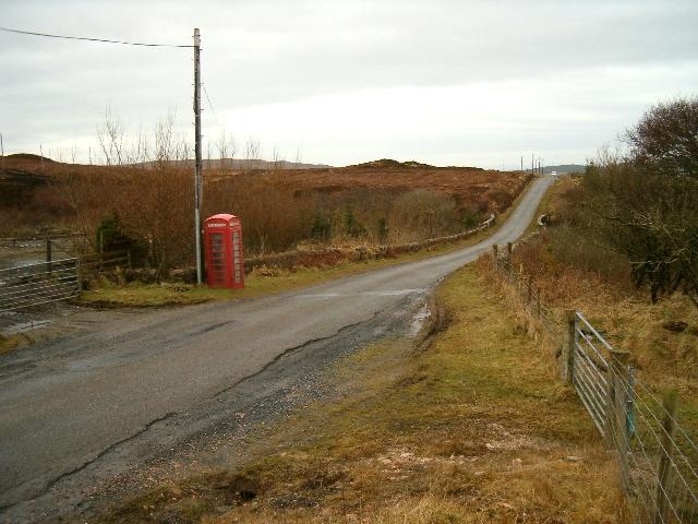 Telephone call box in Glen Machrie