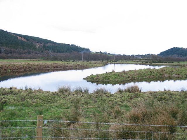 Man made Trout pond at Rhonadale Farm.