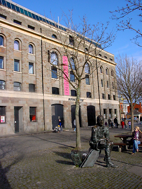 Arnolfini Gallery and John Cabot's statue