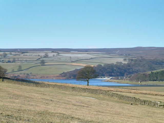 Looking southwest towards Leighton Reservoir.