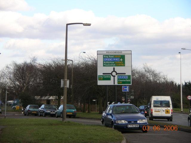 Meadowhead Roundabout, Sheffield 8