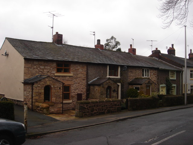 Whittle le Woods: cottages on Town Lane