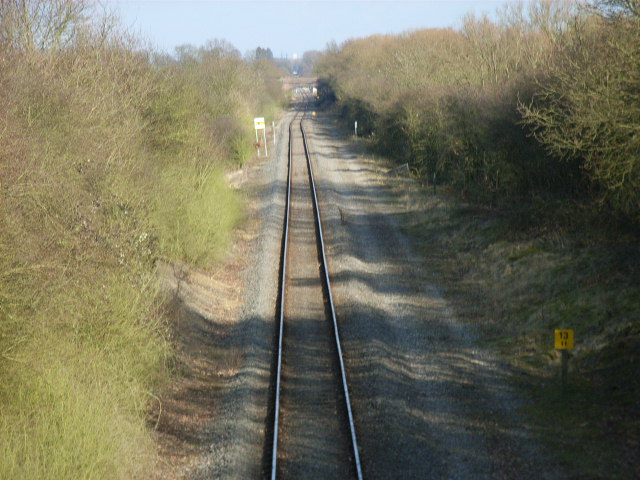 Railway north of Charndon