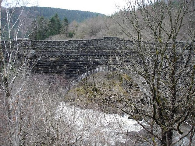 Afon Lledr through the railway bridge