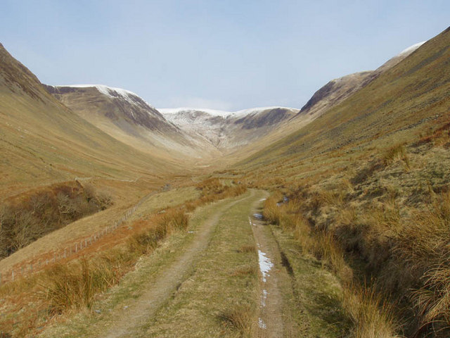 View up Black Hope from near Moffat Dale