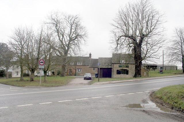 Houses at the junction, Burley on the Hill