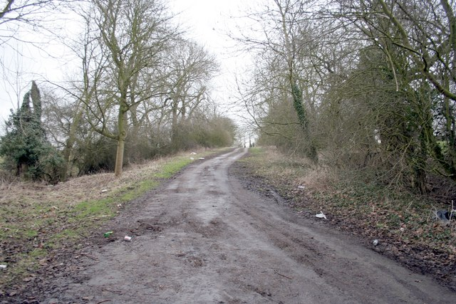 The old main road near Manton Lodge