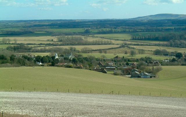 Glynde Place, Church and Home Farm