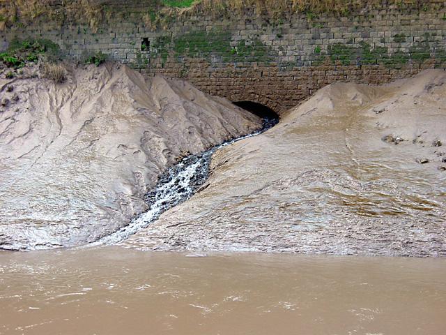 Silt in the River Avon
