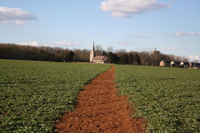 Path to St.Hibald's church