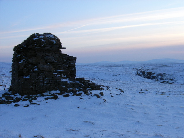 Chimney remains above Nenthead