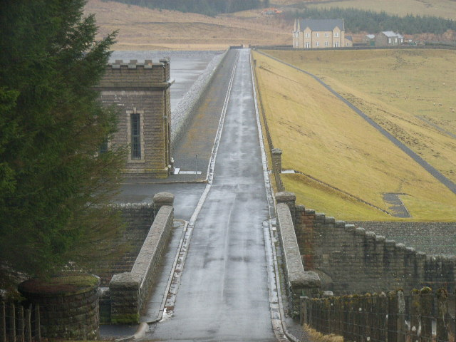 The dam, Burnhope Reservoir