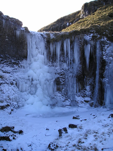 Frozen waterfall, Cote Gill