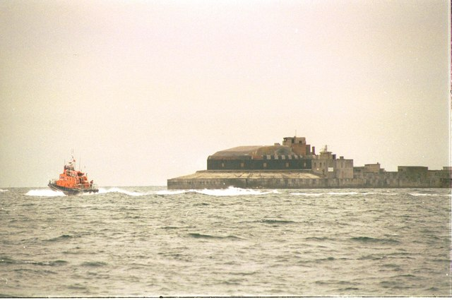Fort Guarding East Ship Channel, Portland Harbour