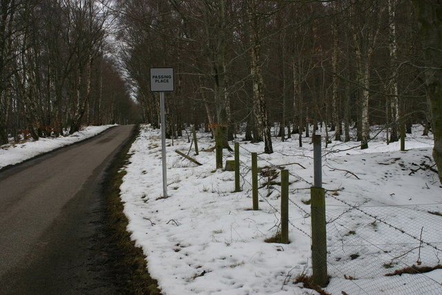 Road scene near Spindle Muir