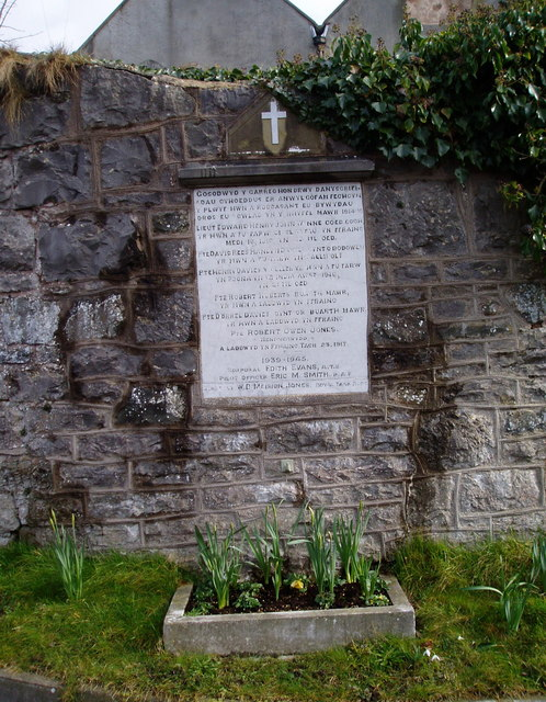 War Memorial at Llangynhafal Church