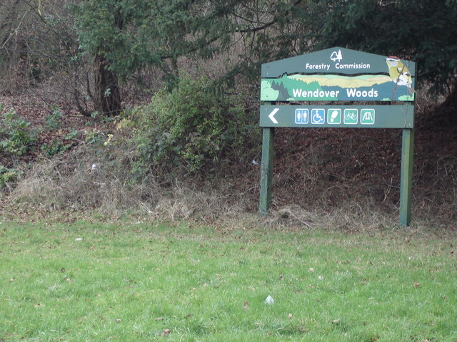 Wendover Woods sign, Aston Hill