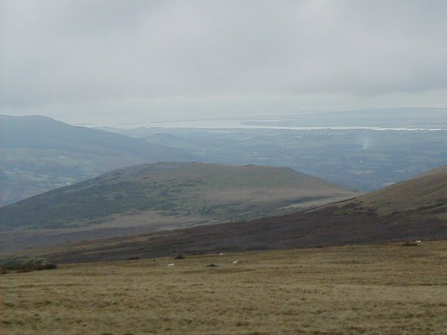 View towards Moel Faban and Menai Straits