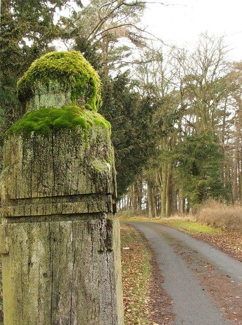 Old Gatepost to Newton Hall