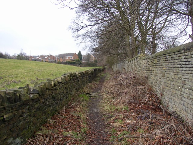 Footpath behind Carr Green Cemetery, Rastrick (SE138209)