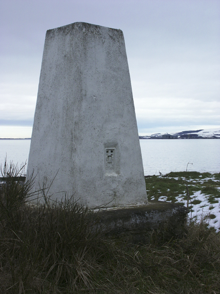Triangulation pillar, Shore Mill, Ross-shire