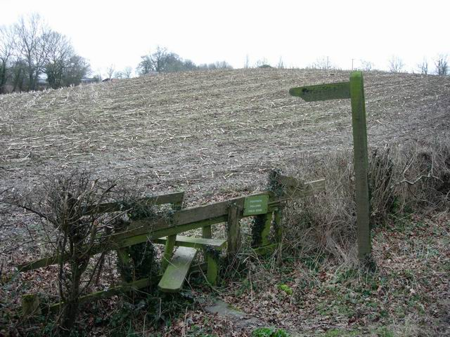 Stile and sign