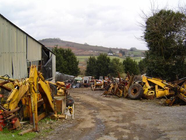 Tractor scrapyard - Bickaton, South Devon