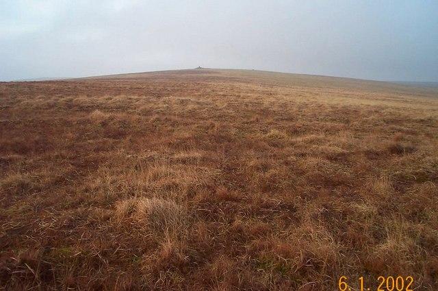 Featureless moorland on Dartmoor