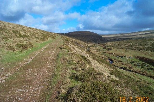 Disused railway track near Great Nodden - Dartmoor