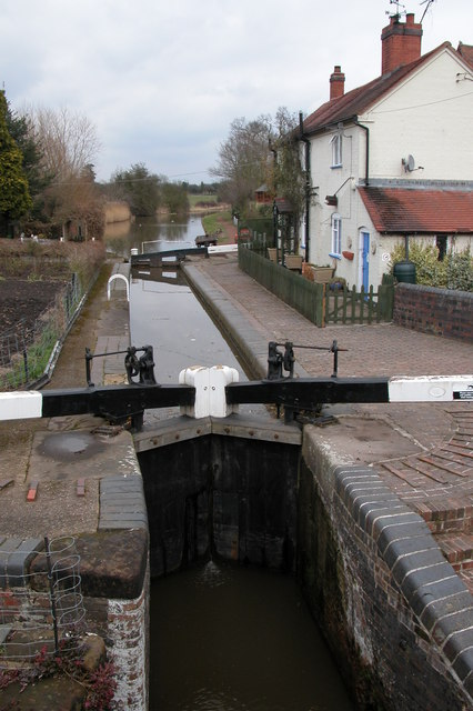 Lock on the Worcester & Birmingham Canal