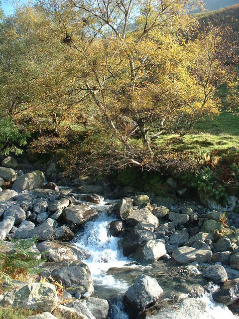 Waterfall Lingmell Gill