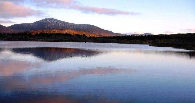 Reflection on Loch na h-Aibhne Ruaidhe, Isle of Lewis