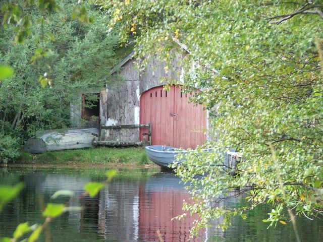 Boathouse at Farr Loch