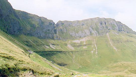 Limestone cliffs, head of Gleniff.