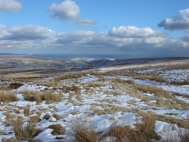 View from the summit of Winter Hill towards Belmont Road