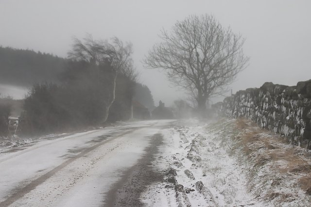 Road near Fairy Cross Plain - Fryup
