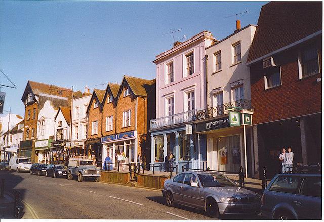 Raised Pavement, Dorking High Street.