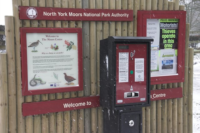 Information board at the Moors Centre Car Park