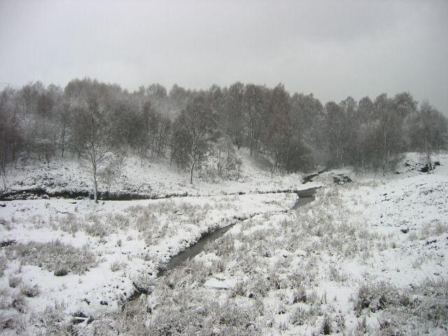 Moorland below the dam