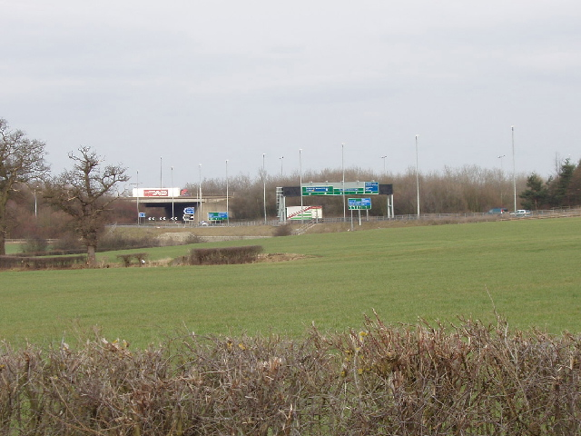 South Mimms motorway junction from Blanche Lane
