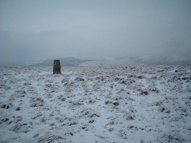 Trig point on Tewsgill Hill