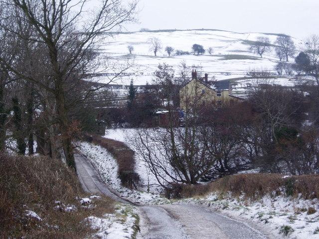 Hill near Ffrith Farm