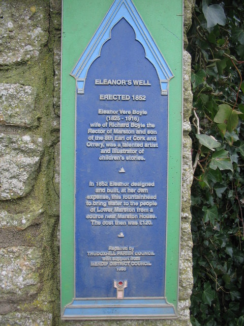Plaque at Eleanor's Well