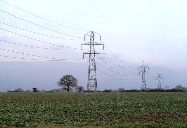 Pylons near Rochford