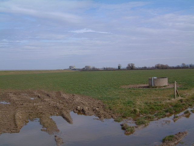 Farmland near Berkeley Power Station
