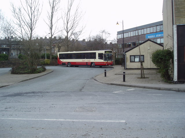 Bus station, Earby, Yorkshire