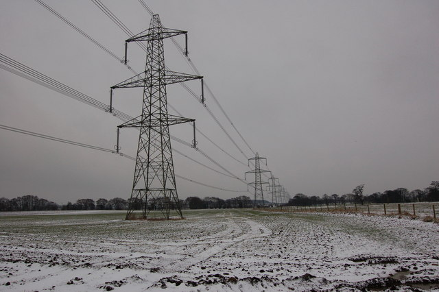 Pylons looking South at Balk