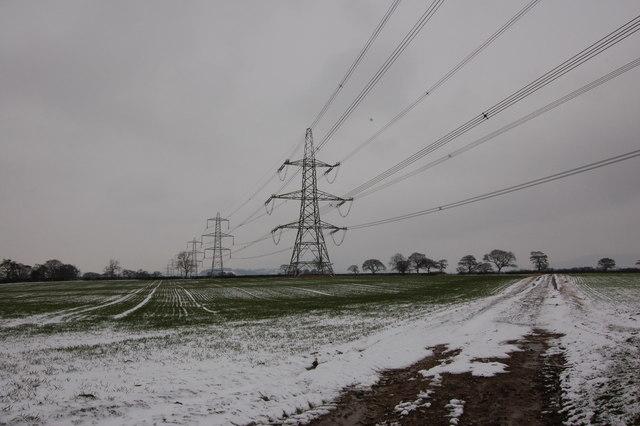 Pylons looking North at Balk