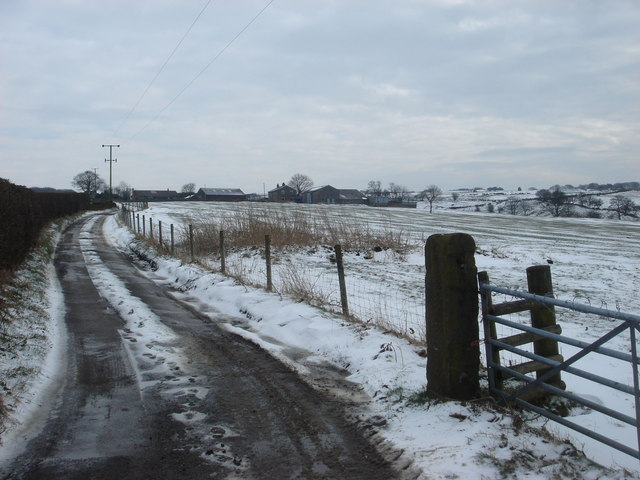 Farm track to Harry Fold