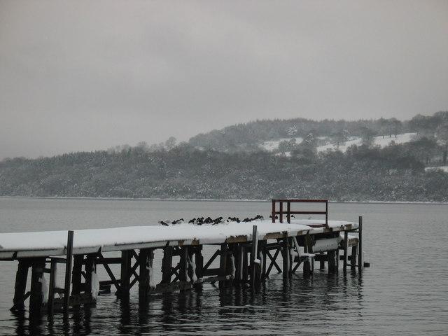 Pier at Duck Bay Hotel, Loch Lomond.